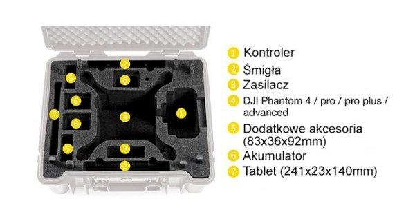 Walizka B&W do DJI Phantom 4 / 4 Adv / 4 Adv Plus / 4 Pro / 4 Pro Plus