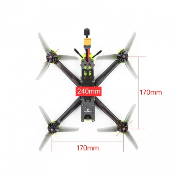Dron wyścigowy iFlight Nazgul 5 V2 Analog 240mm 5 cali 4S Freestyle FPV Racing Drone BNF/PNP RaceCam R1 Cam SucceX-E F7 45A ESC 2207 2750KV Motor - Odbiornik FrSky R-XSR