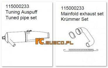 Exhaust Set - Ansmann Virus