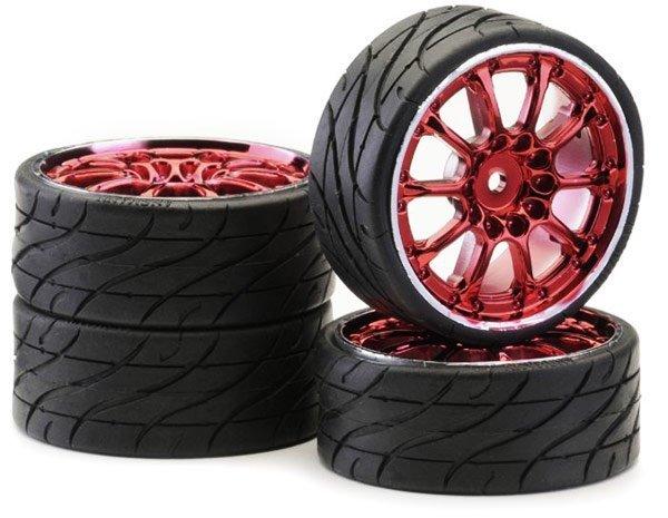 Koła Low Profil Worm red chrom Ansmann Racing 4 szt.