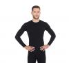 BRUBECK koszulka ACTIVE WOOL męska czarny, długi rękaw, wełna merino