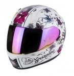 SCORPION KASK EXO-390 CHICA PEARL WHITE-BLACK