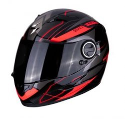 SCORPION KASK INTEGRALNY EXO-490 NOVA BLACK- RED