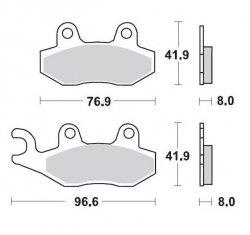 KLOCKI HAMULCOWE KH135 / KH214 METALICZNE: 21 KAWASAKI:KX125/250/500<1993,SUZUKI:RM125/250 <1995, RMX250 <1995, YAMA MOTO-MASTER