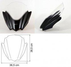 Uniwersalna czarna szyba do motocykli bez owiewek MRA (typ RNB)