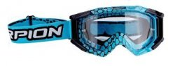 SCORPION GOGLE BLUE CYAN-BLACK E16