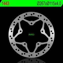 NG1443 TARCZA HAMULCOWA YAMAHA 125/150 X-ENTER '12-16 (267X115X4,0) (5X8,5MM)