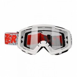 LAZER Gogle Track White - white - red / Clear