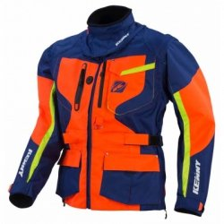 KENNY KURTKA OFF-ROAD TITANIUM NAVY/ORANGE/LIME