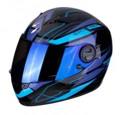 SCORPION KASK INTEGRALNY EXO-490 NOVA BLACK- BLUE