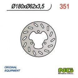 NG351 TARCZA HAMULCOWA TYŁ DERBI 50 SENDA (180x62x3,5)