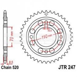 Zębatka tylna stalowa JT 247-36, 36Z, rozmiar 520 2300186 Honda CB 400