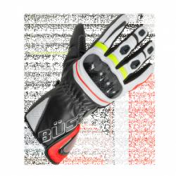 BUSE Rękawice motocyklowe  Misano czarno-biało-neo