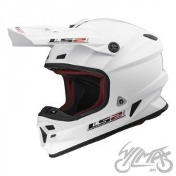 KASK LS2 MX456 SINGLE MONO WHITE