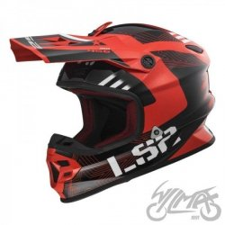 KASK LS2 MX456 LIGHT RALLIE RED BLACK