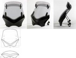 Szyba MRA przyciemniana (typ VFVTC) Uniwersalna do motocykli bez owiewek