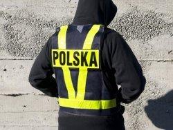 KAMIZELKA SIATKOWA Z PASAMI NA PLECACH NAPIS POLSKA