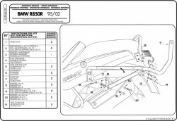 KAPPA K6350 STELAŻ KUFRA CENTRALNEGO BMW R850R (95)