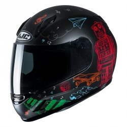 HJC KASK INTEGRALNY JUNIOR CL-Y WAZO BLACK/RED