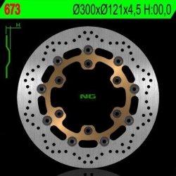 NG673 TARCZA HAMULCOWA SUZUKI DR 650 '91-'95, DR 800 '89-'96, XF 650 FREEWIND '97-'02, M 800 INTRVDRE '08-'15 (300X121X4,5)