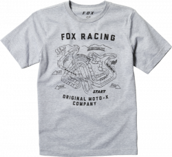 FOX T-SHIRT JUNIOR FAST TRACK LIGHT HEATHER GREY
