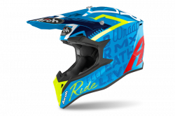 AIROH KASK OFF-ROAD WRAAP STREET AZURE GLOSS