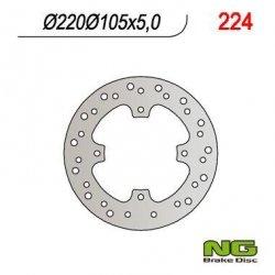NG224 TARCZA HAMULCOWA HONDA FX 650, SLR 650 (220x105x5)