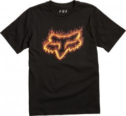 FOX T-SHIRT  JUNIOR FLAME HEAD BLACK/ORANGE