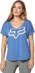 FOX  T-SHIRT LADY RESPONDED BLUE/WHITE