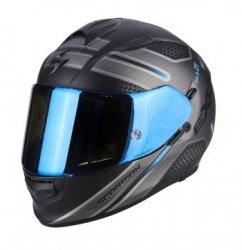 SCORPION KASK EXO-510 AIR ROUTE MATT BK-BLUE