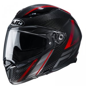 HJC KASK INTEGRALNY F70 CARBON ESTON BLACK/RED