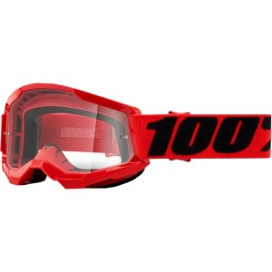 100 PROCENT GOGLE STRATA 2 YOUTH RED CLEAR LENS
