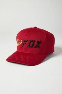 FOX CZAPKA Z DASZKIEM APEX FLEXFIT RED/BLACK
