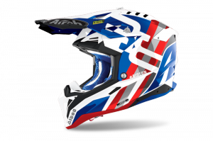 AIROH KASK OFF-ROAD AVIATOR 3 RAINBOW BLUE/RED GLO