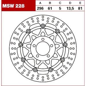 TRW Tarcza hamulcowa MSW228 KAWASAKI ZX-6 R 600 Ni