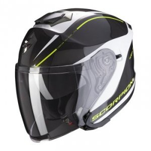 SCORPION KASK INTEGRAL EXO-S1 SHADOW PEARL WH/NE/Y