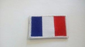 REBELHORN ODZNAKA NA RZEP FLAGA FRANCJI BLUE/W/RED
