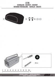 GIVI E176 OPARCIE DO KUFRA B330 / B29