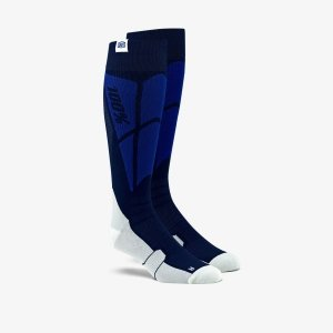 100 PROCENT SKARPETY CROSS HI SIDE SOCKS NAVY/GREY