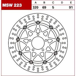 TRW Tarcza hamulcowa MSW223 SUZUKI TL GSX 1400 GSX