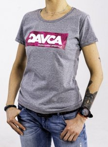DAVCA T-shirt codzienny pink skulls