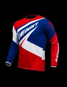 KENNY KOSZULKA OFF-ROAD  TRIAL UP BLUE/WHITE/RED