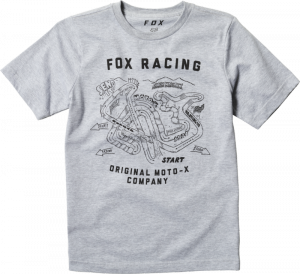 FOX T-SHIRT JUNIOR FAST TRACK LIGHT HEATHER GREY