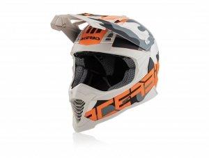 Acerbis Kask off-road X-RACER VTR pomarań - biały