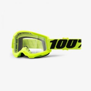 100 PROCENT GOGLE MODEL STRATA 2 YELOW  FLUO CLEAR