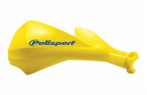 Komplet osłon kierownicy Polisport Sharp [żółty]