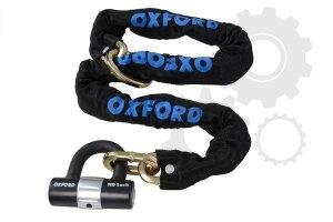 OXFORD Chain8- 8mm sq x 1.0mtr & lock zabezpieczenie antykradzieżowe