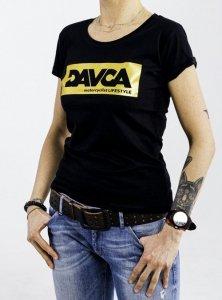 DAVCA T-shirt lady black gold logo