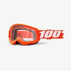 100 PROCENT GOGLE MODEL STRATA 2 ORANGE CLEAR