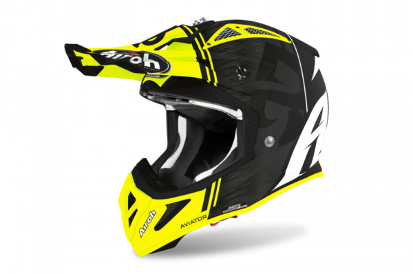 AIROH KASK OFF-ROAD AVIATOR ACE KYBON YELLOW MATT